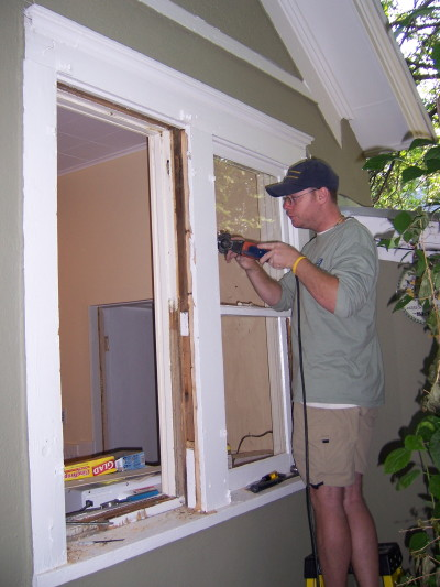AA Craftsman Window Replacement service. We do the work from the outside and keep the inside of your house clean.